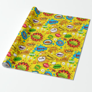 Comic Book Wrapping Paper