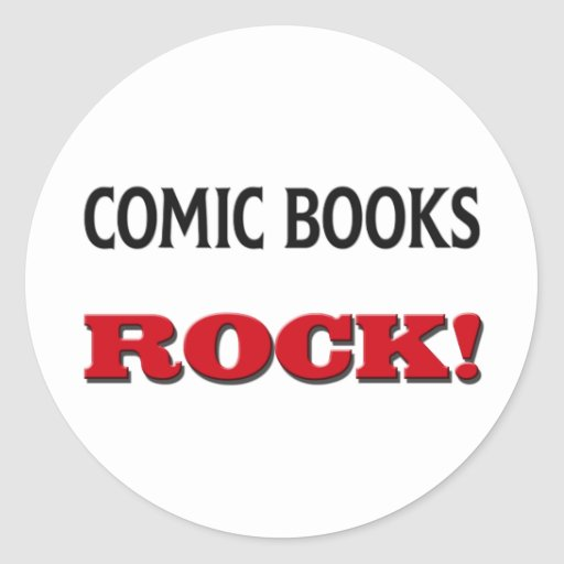 Comic Books Rock Round Sticker