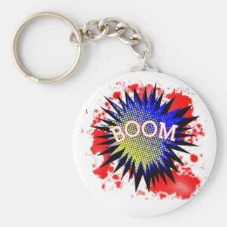 Comic Boom Key Ring