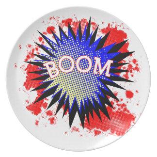 Comic Boom Plate