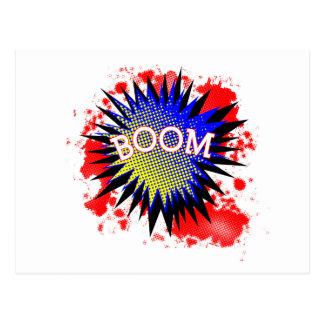 Comic Boom Postcard
