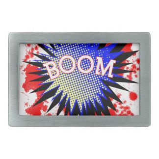 Comic Boom Rectangular Belt Buckle