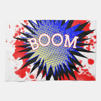 Comic Boom Tea Towel