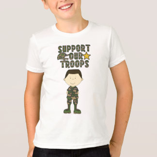 Comic Camo Boy Soldier Military Kids Youth T-Shirt