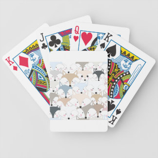 Comic cartoon cute fox or wolf pattern bicycle playing cards