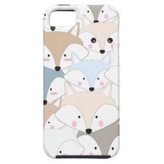 Comic cartoon cute fox or wolf pattern case for the iPhone 5