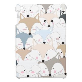 Comic cartoon cute fox or wolf pattern iPad mini cover