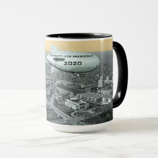 Comic GARCETTI FOR PRESIDENT BLIMP OVER WASHINGTON Mug