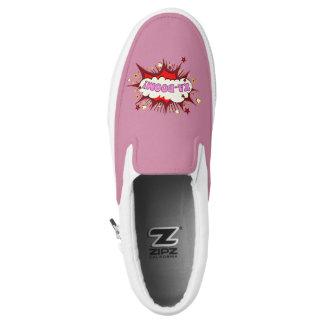 Comic Girl Slip On Shoes
