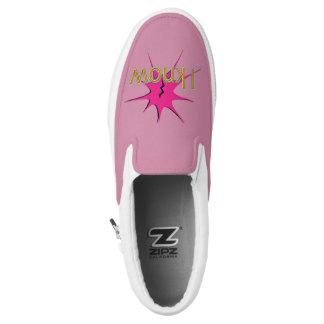 Comic Girl Slip-On Shoes