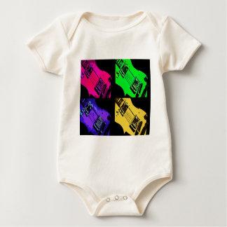 COMIC GUITAR ART BABY BODYSUIT