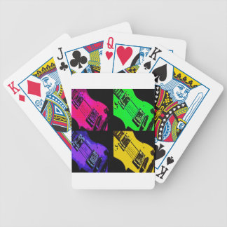 COMIC GUITAR ART BICYCLE PLAYING CARDS