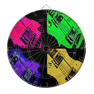 COMIC GUITAR ART DARTBOARD
