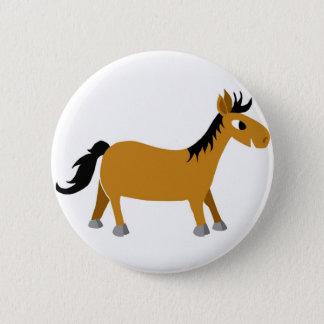 Comic horse 6 cm round badge