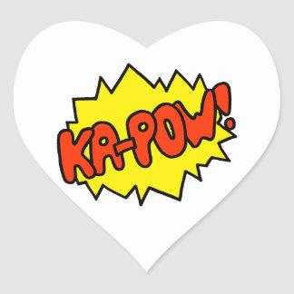 Comic 'Ka-Pow!' Heart Sticker