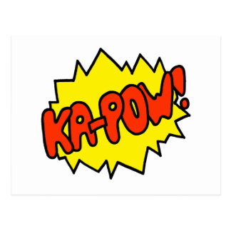 Comic 'Ka-Pow!' Postcard