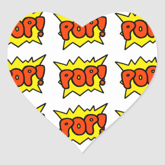 Comic 'Pop!' Heart Sticker