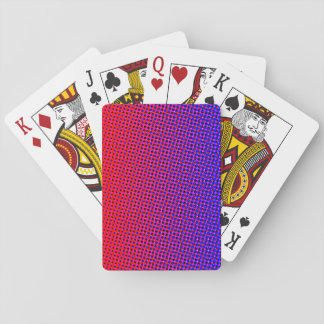 Comic Print Blue and Red Playing Cards
