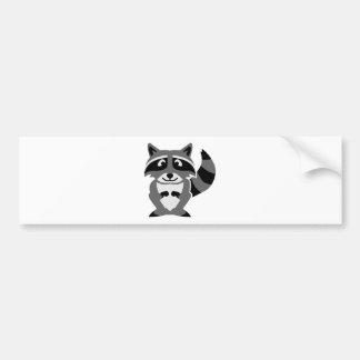 Comic raccoon bumper sticker