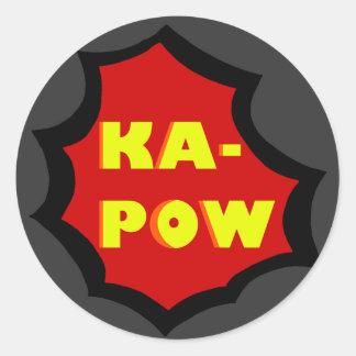 Comic Round Sticker