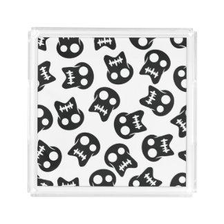 Comic Skull black pattern