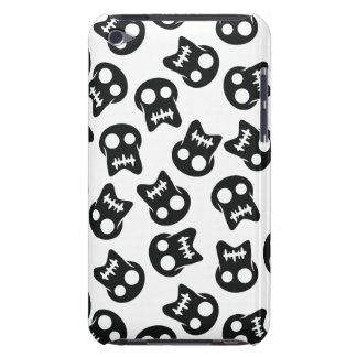 Comic Skull black pattern Barely There iPod Case