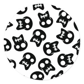 Comic Skull black pattern Card