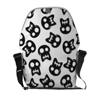 Comic Skull black pattern Commuter Bag