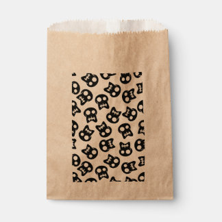 Comic Skull black pattern Favour Bag