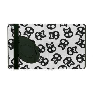 Comic Skull black pattern iPad Folio Case