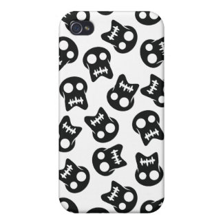 Comic Skull black pattern iPhone 4 Cover