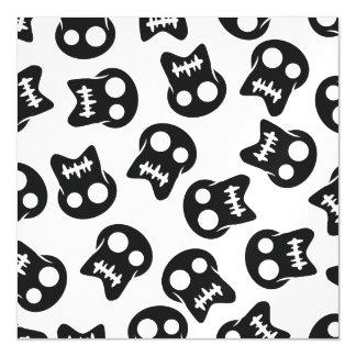 Comic Skull black pattern Magnetic Card