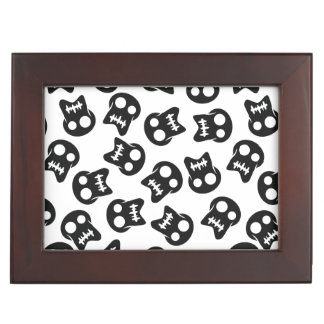 Comic Skull black pattern Memory Boxes