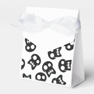 Comic Skull black pattern Party Favour Boxes