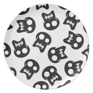 Comic Skull black pattern Plate