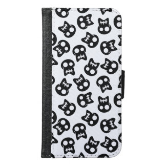 Comic Skull black pattern Samsung Galaxy S6 Wallet Case