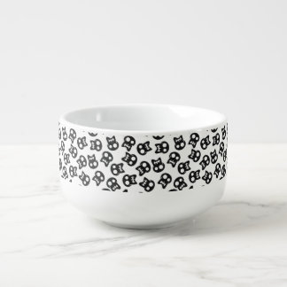 Comic Skull black pattern Soup Mug