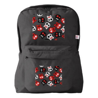 Comic Skull colorful pattern Backpack