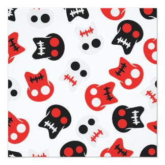 Comic Skull colorful pattern Card