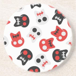 Comic Skull colorful pattern Coaster