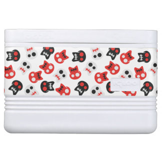 Comic Skull colorful pattern Cooler