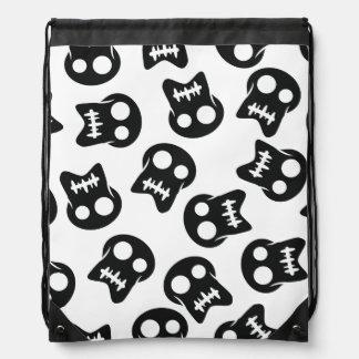 Comic Skull colorful pattern Drawstring Bag