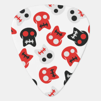Comic Skull colorful pattern Guitar Pick