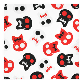 Comic Skull colorful pattern Magnetic Card