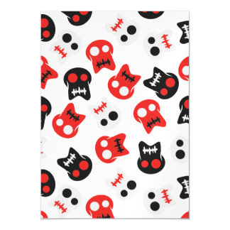 Comic Skull colorful pattern Magnetic Invitations