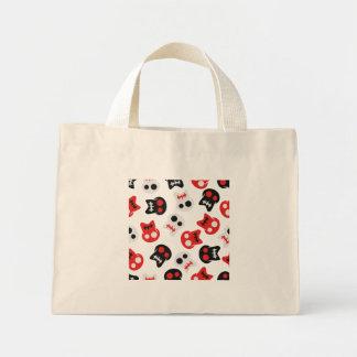 Comic Skull colorful pattern Mini Tote Bag