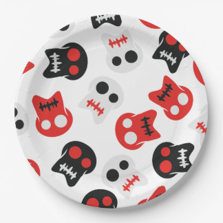 Comic Skull colorful pattern Paper Plate