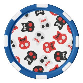 Comic Skull colorful pattern Poker Chips