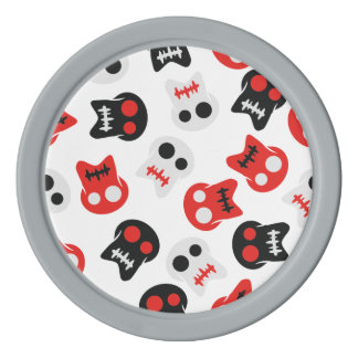 Comic Skull colorful pattern Poker Chips
