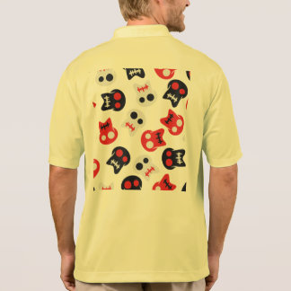 Comic Skull colorful pattern Polo Shirt